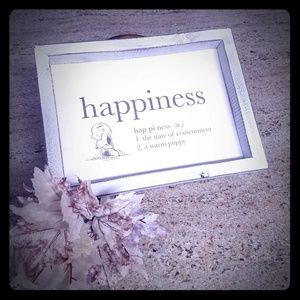 PEANUTS Happiness is... wall plaque
